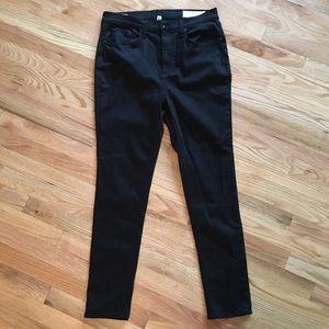 Rag & Bone high rise black skinny jeans size 32